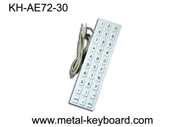 Metal Panel Mounted Industrial custom mechanical keyboards for Mine Info - Kiosk