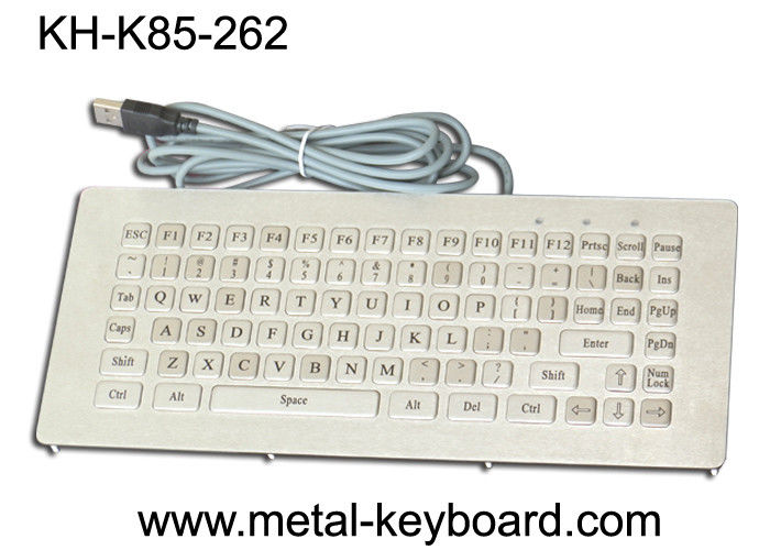 Metallic stainless steel ruggedized keyboard industrial Vandal Resistant