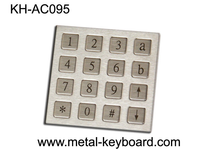 Rugged Stainless Steel Keyboard Panel mount Keypad with 16 Keys