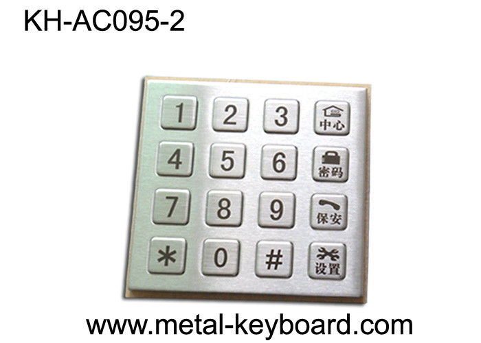 16 Button Smart Door System Stainless Steel Keypad 4 X 4 Weatherproof