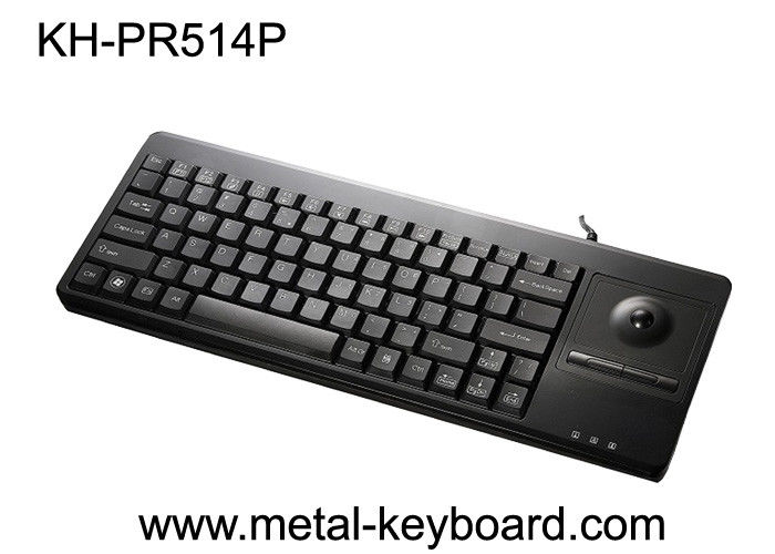 Self - service 81 keys Keyboard with integrated trackball , waterproof computer keyboard
