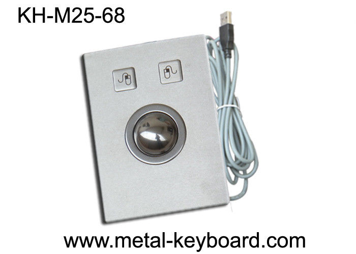 Anti Vandal Industrial Pointing Device Panel Mounted Trackball Stainless Steel Material