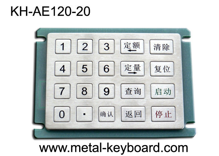 Rugged Stainless steel Keyboard Gas Station Keypad with 20 Keys 5x4 Matrix