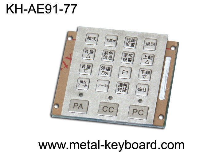 IP65 19 Keys Mini Vandal Resistant waterproof keypad Stainless steel