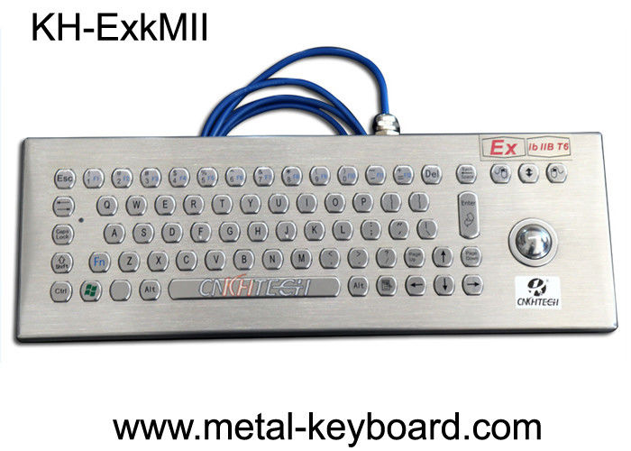 EXibIIB T6 Rugged Keyboard Stainless Steel Material With Trackball Mouse